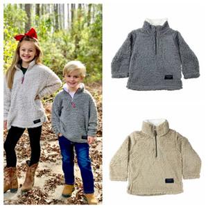 어린이 셰르파 풀오버의 babys 후드 지퍼 베르베르 양털 스웨터 착실히 보내다 가을 겨울 자켓 어린이 까마귀 셰르파 스웨터 LJJA3293-4