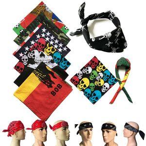 hip hop national flag square scarf outdoor headdress riding square scarf multi-functional street dance Euro scarf Bandanas mask LJJA4010