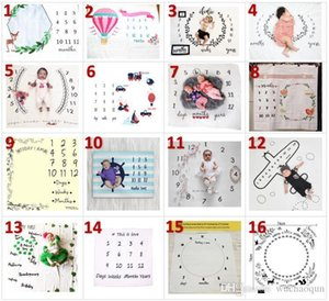 2018 INS Kids Blankets Winter Warm cotton Blankets infant Swaddling Letter flower digital baby bed sheet Sleeping Bag 100*100cm