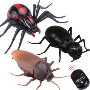 새로운 재미 높은 RC 장난감 시뮬레이션 동물 바퀴벌레 적외선 원격 제어 어린이 장난감 선물 높은 품질 무료 배송