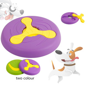 Творческое домашнее животное игрушка собака летающей тарелки игрушки материал охраны окружающей среды метание обучение прикус термостойкого пластика собаки летающих дисков игрушки