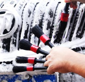 Car wash brush soft hair details brush small brush car interior cleaning tool outlet cleaning 5 sets