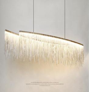 Nordic lampada a sospensione Post Modern Minimalist creative personalità soggiorno sala da pranzo Bar Tassel Chandelier Decor