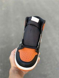 2020 Yeni 1 OG Yüksek saten Backboard erkek basketbol ayakkabıları eğitmenler spor Shattered turuncu siyah spor ayakkabıları açık TOP kalite boyutu 8-13