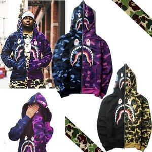 strada di marca 3RmiW moda mosaico camuffamento nv wai tao nv wai tao wo personalità della moda cappotto squalo scimmia incappucciati co uomini maglione e femminile