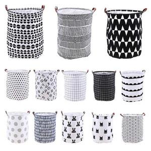 26 Styles Accueil Folding panier à linge Cartoon rangement Barrel permanent Rangement des vêtements seau de lavage Organisateur Porte Pouch enfant Storag M237