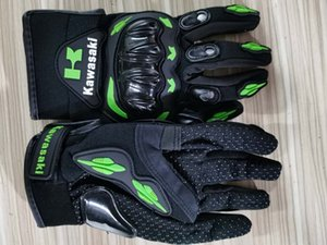 Kawasaki Sport Riding Gloves For Motorcycle And Cycling Artificial Leather Cloak Green M L XL XXL 16-25cm PU