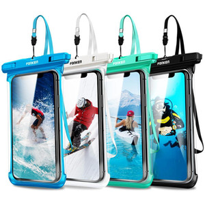 Full View Waterproof Case For Phone Transparent Dry Bag Swimming Pouch For iPhone 11 Pro Max 6.5 inch Mobile Phone Cases