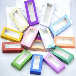Venda por grosso de 200 computadores pessoais caixa de embalagem para pestanas em branco embalagem de papel Mole Multicolor pestanas embalagem DIY flash embalagem