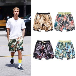 2020 Summer Fashion Trend Brand FOG Men's Designer Shorts Loose Crotch Collapse Pants Floral Casual Sports Basketball Shorts Men