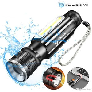 Wiederaufladbare LED Taschenlampe COB Arbeitslicht Fahrrad-Licht-Zoomable Fackel 4 Beleuchtung Modi für Camping gebraucht, Radfahren, Arbeit, usw.