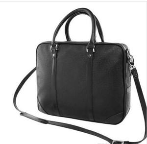 Neue Verkauf Männer Designer Schulter Aktentasche Schwarz Braun Leder Handtasche Business Männer Laptop Tasche Messenger Bag Männer Business Aktentasche Tasche 53361