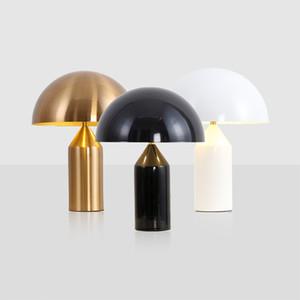 Nordic Metallo Oro Lampada da tavolo camera da letto apparecchi di illuminazione da tavolo Mushroom LED Lampada da comodino Nordic Italia Art Decor