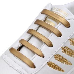 16pcs set Silicone Shoelaces Elastic No Tie Shoe Laces Kids Adult Fashion Hammer Type Running Sneakers Shoelace Lazy Shoes Laces