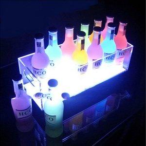 productos de acrílico de hielo cubo de vino luminoso LED barra de bar Barholder noche estante del vino luminosa Shenzhen lata