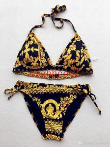 Kadın Giysileri Iki Parçalı Setleri Yeni Yaz Altın siyah Mayo ile Seksi Moda Büyük Kod Bikini Lady Tasarımcı Mayo