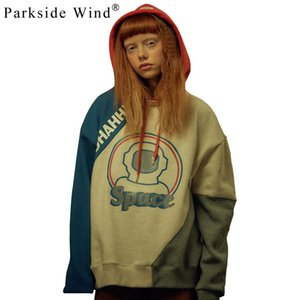 PARKSIDE WIND 2018 Fashion Women Sweatshirts O-Neck Couple Friends Letter Printed Loose Hoodies High Street Pullovers SWA0711-45