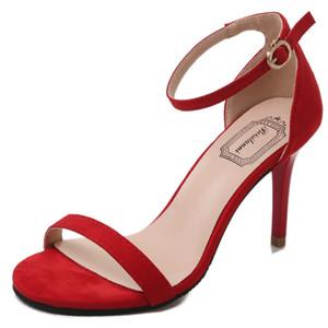 Toes rouge talon haut Sandales Abricot Noir Chaussures à talons de mariage bretelles robe de soirée Heels dames Chaussures d'été 2020