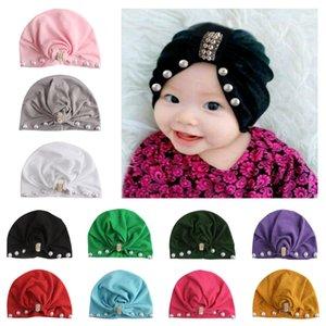 Europa infantil Meninas Hat frisada Headwear Criança Criança crianças Gorros Turban Chapéus Crianças Acessórios 15098