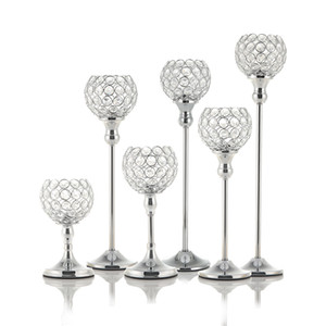 Tealight de vela de cristal titulares de Metal café mesa de jantar de mesa de centro de mesa de castiçais Stand Valentines Day Home Decoration