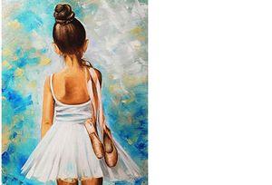 Ballet Girl Diy 5d full diamond painting mosaic landscape Daimond painting cartoon Diamond Embroidery bird party