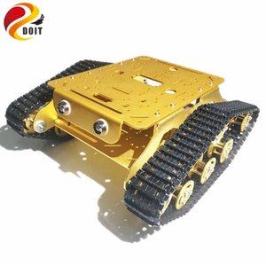 Metal Robot lagartas Tank Car Chassis Caeser TD300 com liga de alumínio Chassis / Frame for Robotic Competition / modificação RC