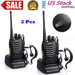 BF-888S 5W 400-470MHz 16-CH Handheld Walkie Walkies Talkies Black Deux voies radio Interphone portable portable mobile