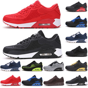 2020 Utility Run 90 OG Kpu Mens Running Shoes Airs Cushion Classic 90s Sports Sneakers Triple White Black Designer Mens Trainers Size 40-46