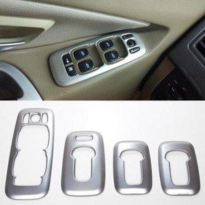 Para XC90 2002-2014 Interior porta do carro Braço Janela Elevador Botões de alternação guarnição da tampa Decoração adesivos de carro Acessórios