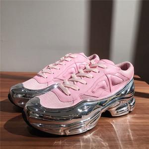 Mens dernière surdimensionné Sneaker, effet dip baskets design argent liquide Sole Entraîneur Sport Multicolor avec la boîte Taille 38-45