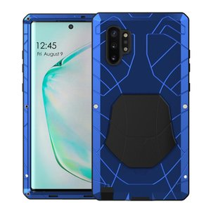 Outdoor Sports Army Tactical Shockproof Metal Silicone Phone Case Cover For Samsung Galaxy Note 10 Plus Heavy Duty Protection