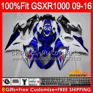 SUZUKI GSXR1000 Için Enjeksiyon 2009 2010 2011 2011 2012 2014 2015 2016 16HC.1 GSXR-1000 stok mavi yeni K9 GSXR 1000 09 10 11 12 13 15 16 Kaplama