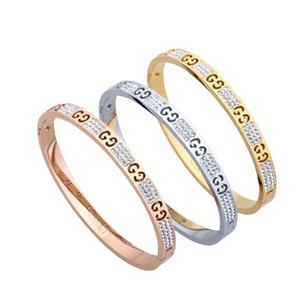 2020 Top Quality Titanium Steel Bangles Carved Rose Gold Designer G Bracelets Fashion Hollow Out Letter Bracelet Love Bangle Jewelry gift
