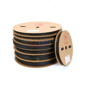 200M Diameter 1mm Black Heat Shrinkable Tube Electrical Sleeving Car Cable Wire Heat Shrink Tubing Wrap 2:1 Shrinkable Ratio Whole Roll