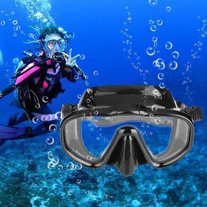Unisex Anti-fog Tempered Glass Diving Mask Snorkeling Goggles Glasses Swim Eyewear Professional Diving Mask Swimming Eyewear