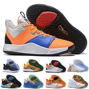 Hot New Color Paul George PG 3 PE 3S Apollo Missions nasa Sales III Mens Boys Basketball Shoes Cheap PG3 Sports Sneakers