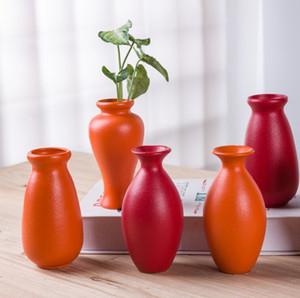 Manuel vaste poterie noire ancienne maison haut de gamme fleur quotidienne décoration moderne intercalation diamètre céramique vase simple 7cm