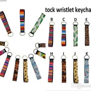 Catena Stampato chiave Wristband Portachiavi floreale neoprene Portachiavi cinturino dell'orologio portachiavi favore di partito 11 Designs LXL232Q-2 all'ingrosso