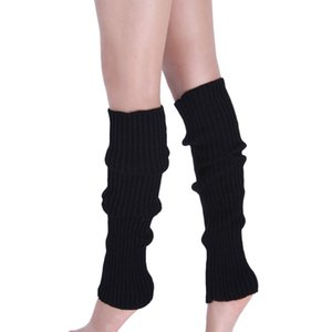 Woman Socks Leg Warmers Women Warm Knee High Winter Knit Solid Crochet Leg Warmer Socks Warm Boot Cuffs Beenwarmers Long Socks