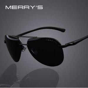 Merrys Alloy Brand Gafas de sol Hombres Fashion Polarized 100% Frame Aluminum Mens Sunglasses S8281 Conducción Ocpik