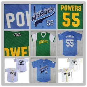 Mexican Charros Filme Beisebol Jerseys 55 Kenny Powers Homens Vintage Chico's Bail Bailes Bad News Bears 12 Tanner Boyle 3 Kelly Seguinte Jersey