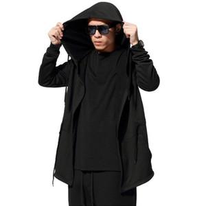 Sudaderas y camisetas de los hombres de moda masculinos Jamickiki Marca Negro algodón ocasional con capucha Sudadera Hombre H01 Gran xxxxxl tamaño asiático