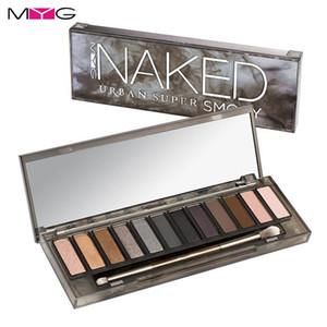 Palette Myg Smoky Filhadow 12 couleurs Maquillage Palette Matte Naked Eyes Facile à porter Palette à paupières
