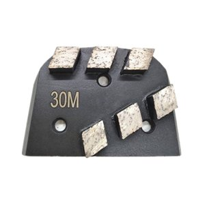 Trapezoid Lavina Diamond Floor Grinding Segments EDCO Lavina Grinding Shoes with Six Rhombus Shape Teeth Abrasive Grinding Block 12PCS