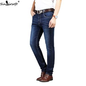 Summer Hot Sale Skinny Jeans Men Cotton Stretch Breathable Thin Straight Jeans Men Fashion Business Casual Large Size