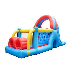 Túnel de golf casa de la despedida Yard Gorila inflable escalada de obstáculos con soplador de aire de uso de la familia Carrera de obstáculos Proveedor juegos al aire libre Diversión