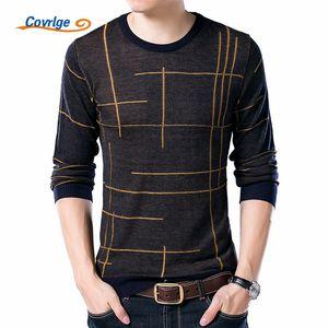 Covrlge Marca camisola por Homens 2019 Outono Inverno Nova Mens Camisolas Moda Rodada Linha Collar Pattern design pullover masculino MZL016