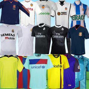 2010 11 12 İspanya La Liga'da futbol forması coruna Barcelona Real Madrid valencia ANGULO 14 99 00 RONALDO MESSI gömlek fanlar tee Retro