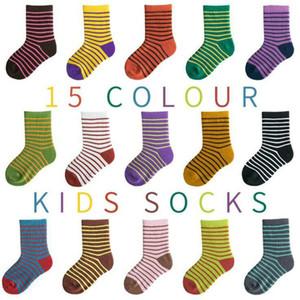 El tobillo del calcetín de los bebés y niñas Corea del resorte de los niños de dibujos animados de verano rayas calcetines de algodón infantiles del niño de los cabritos del bebé barato del calcetín 1-12Y AYP657
