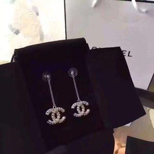Luxe Qualité Boucles d'oreilles avec diamants métal mode boucles d'oreilles de lettre PS6738A aiguille d'argent S925